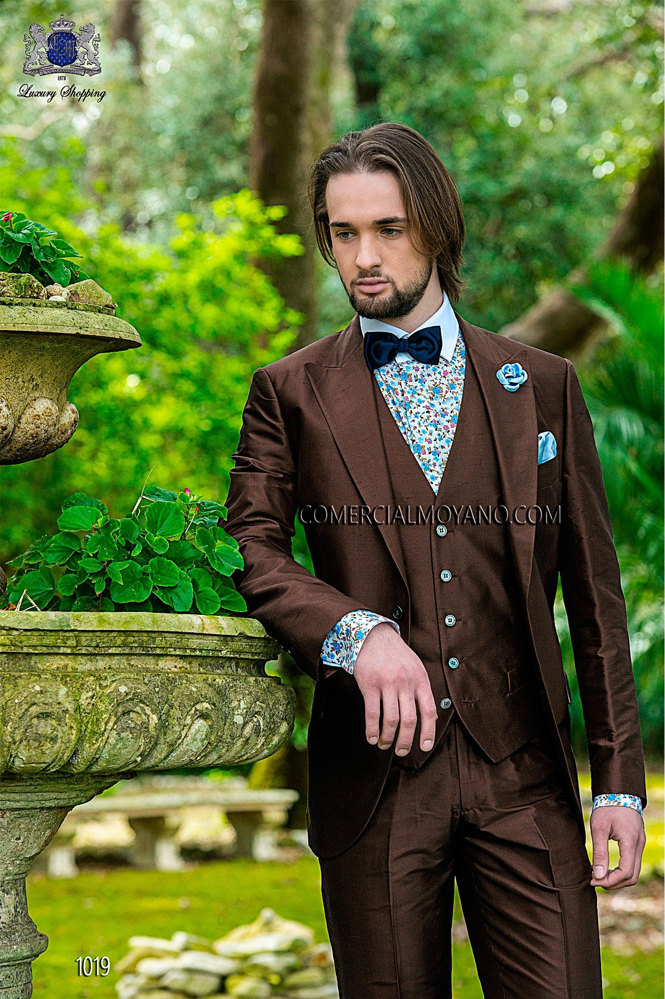 Hipster brown men wedding suit model 1019 Ottavio Nuccio Gala