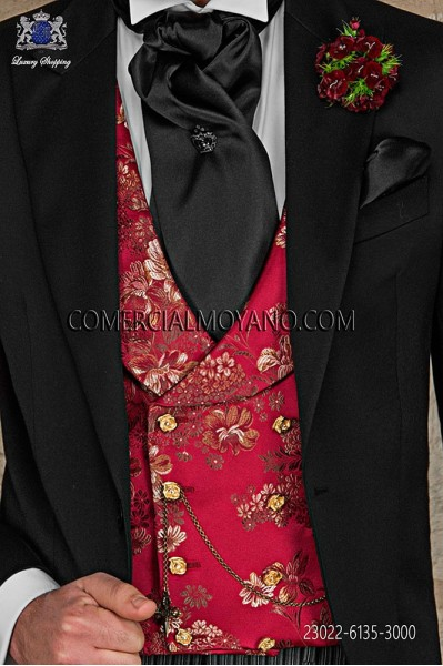 Red damask waistcoat