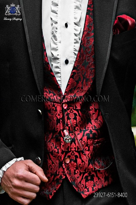 Black red waistcoat