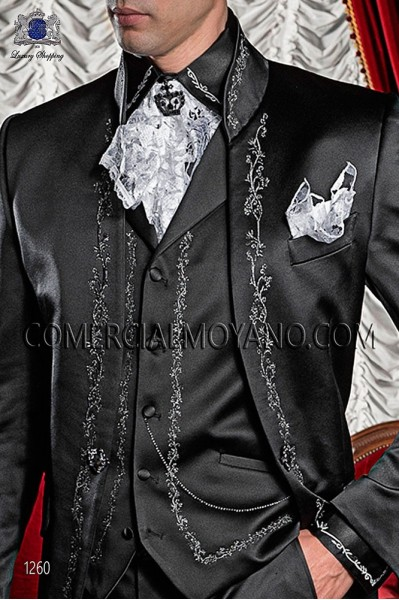 costume de mariage gothique noir ottavio nuccio gala. Black Bedroom Furniture Sets. Home Design Ideas