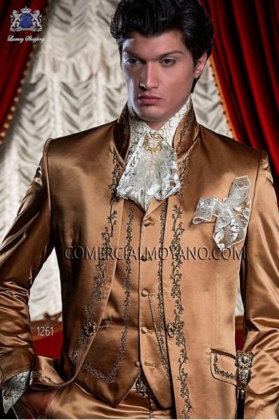 Gold satin period waistcoat