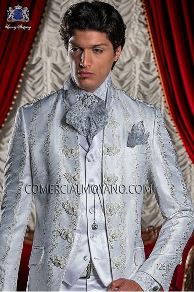 White satin period waistcoat