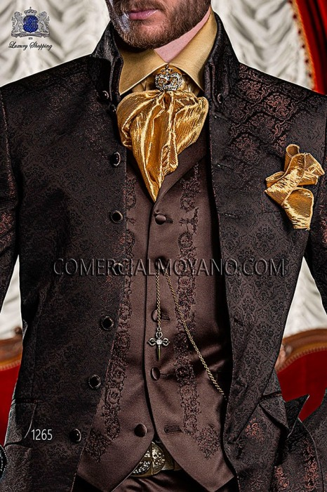 Brown satin period waistcoat