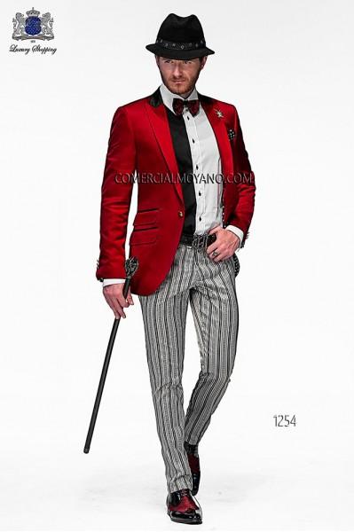 Italian emotion red men wedding suit style 1254 Ottavio Nuccio Gala