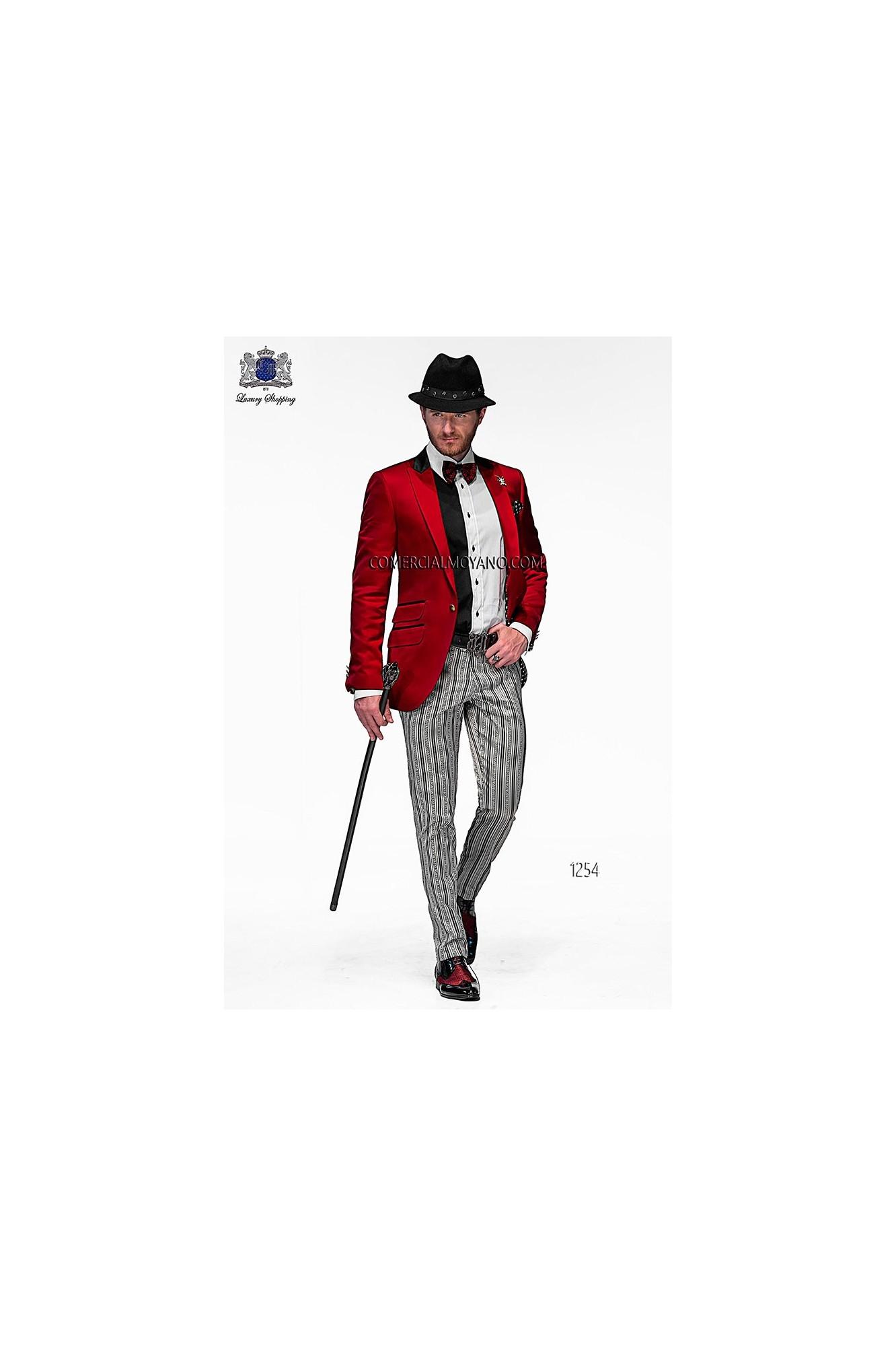 Emotion red men wedding suit model 1254 Ottavio Nuccio Gala