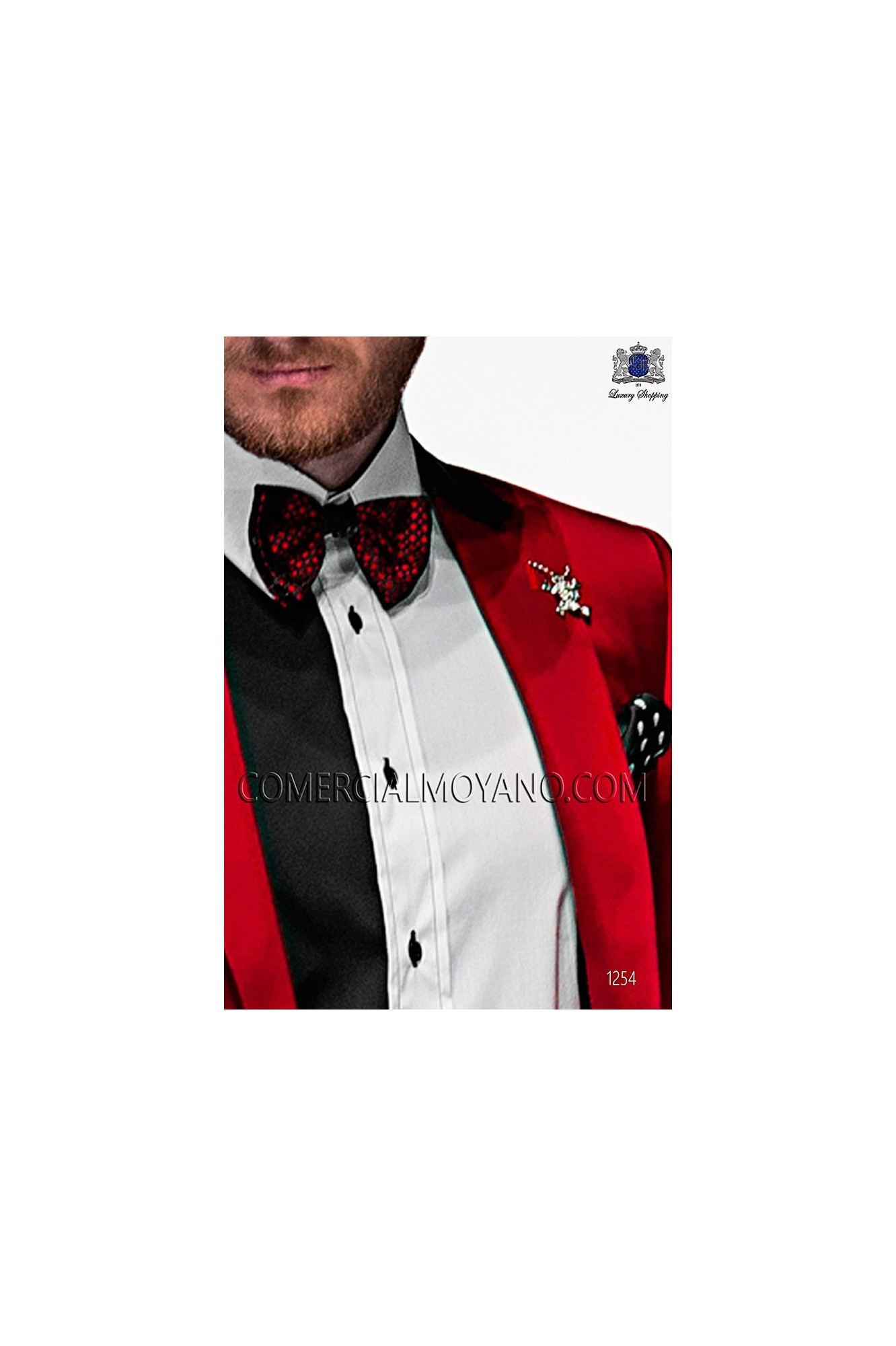 Italian emotion red men wedding suit, model: 1254 Ottavio Nuccio Gala 2017 Emotion Collection