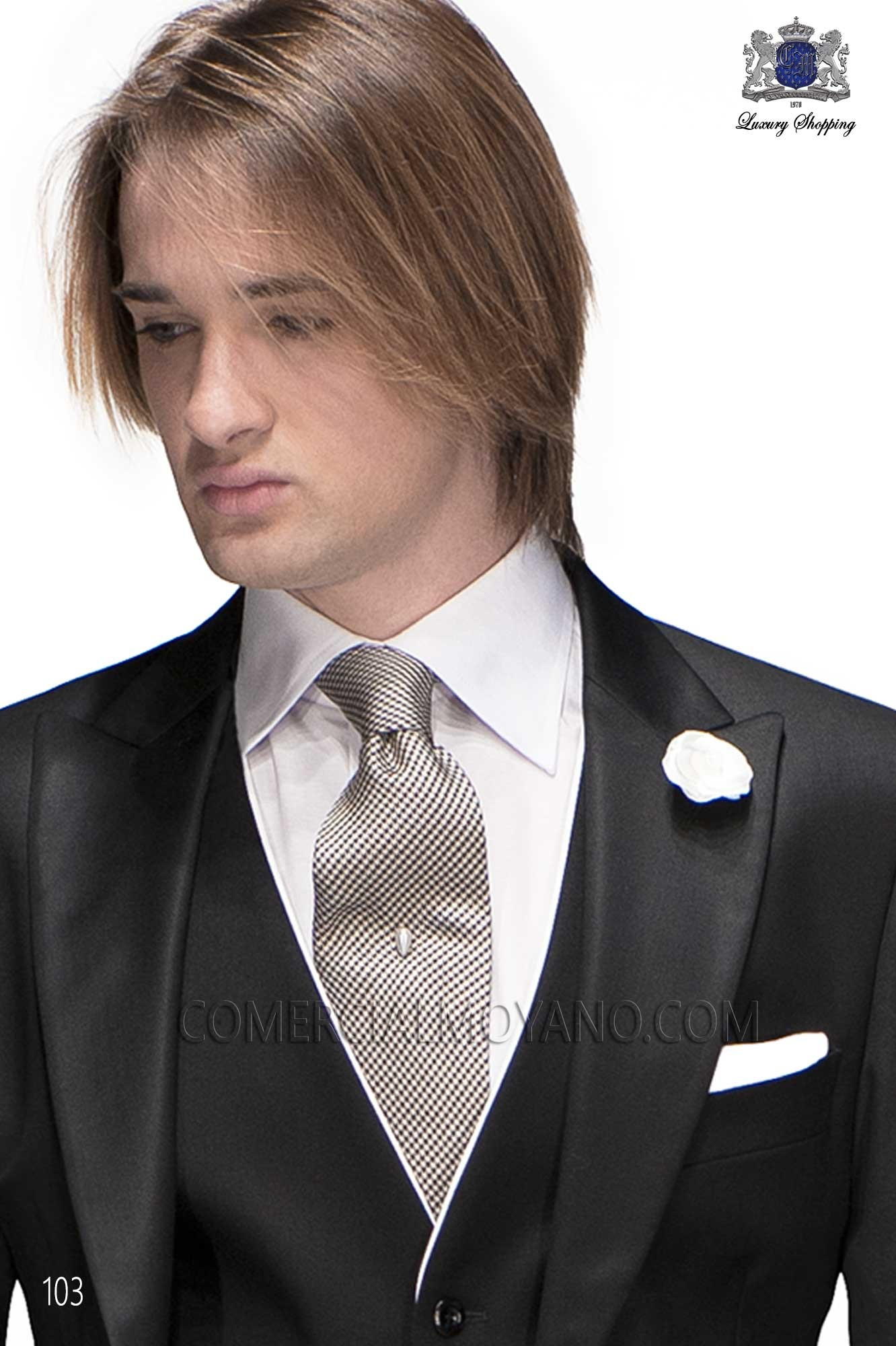 Italian gentleman black men wedding suit, model: 103 Ottavio Nuccio Gala Gentleman Collection