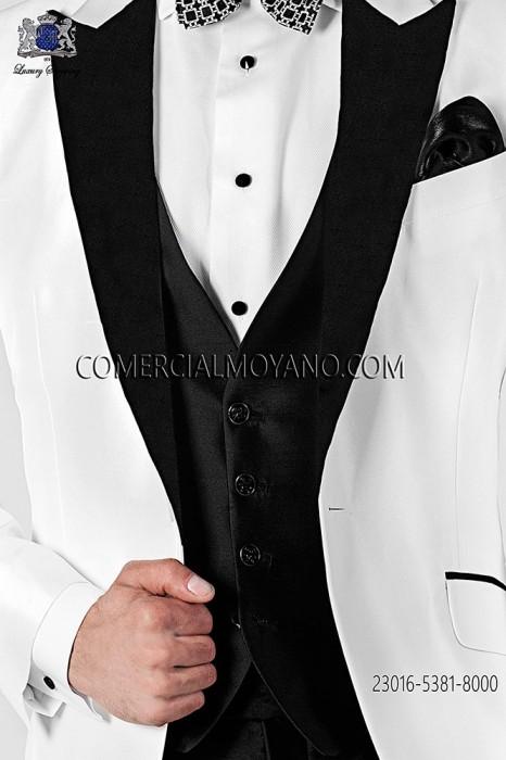 Black shantung silk waistcoat
