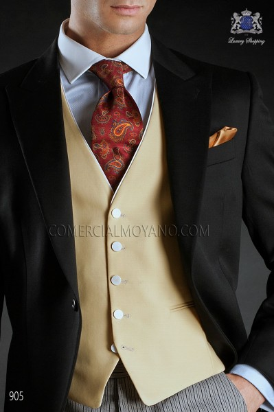 Albero color waistcoat with contrast piping