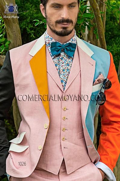 Pink linen waistcoat
