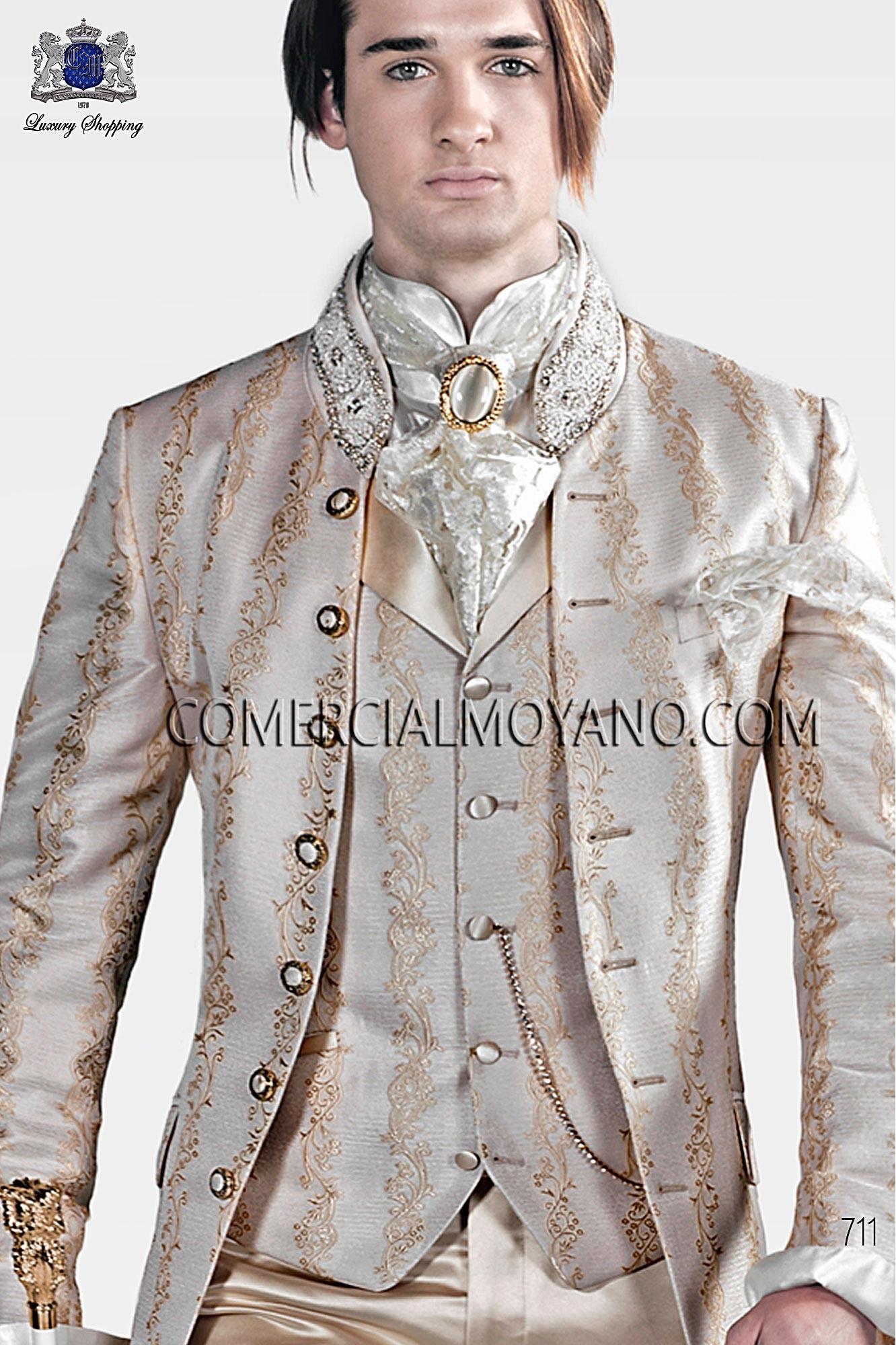 Traje barroco de novio marfil dorado modelo: 711 Ottavio Nuccio Gala colección Barroco