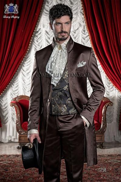 Baroque Italian brown wedding suit