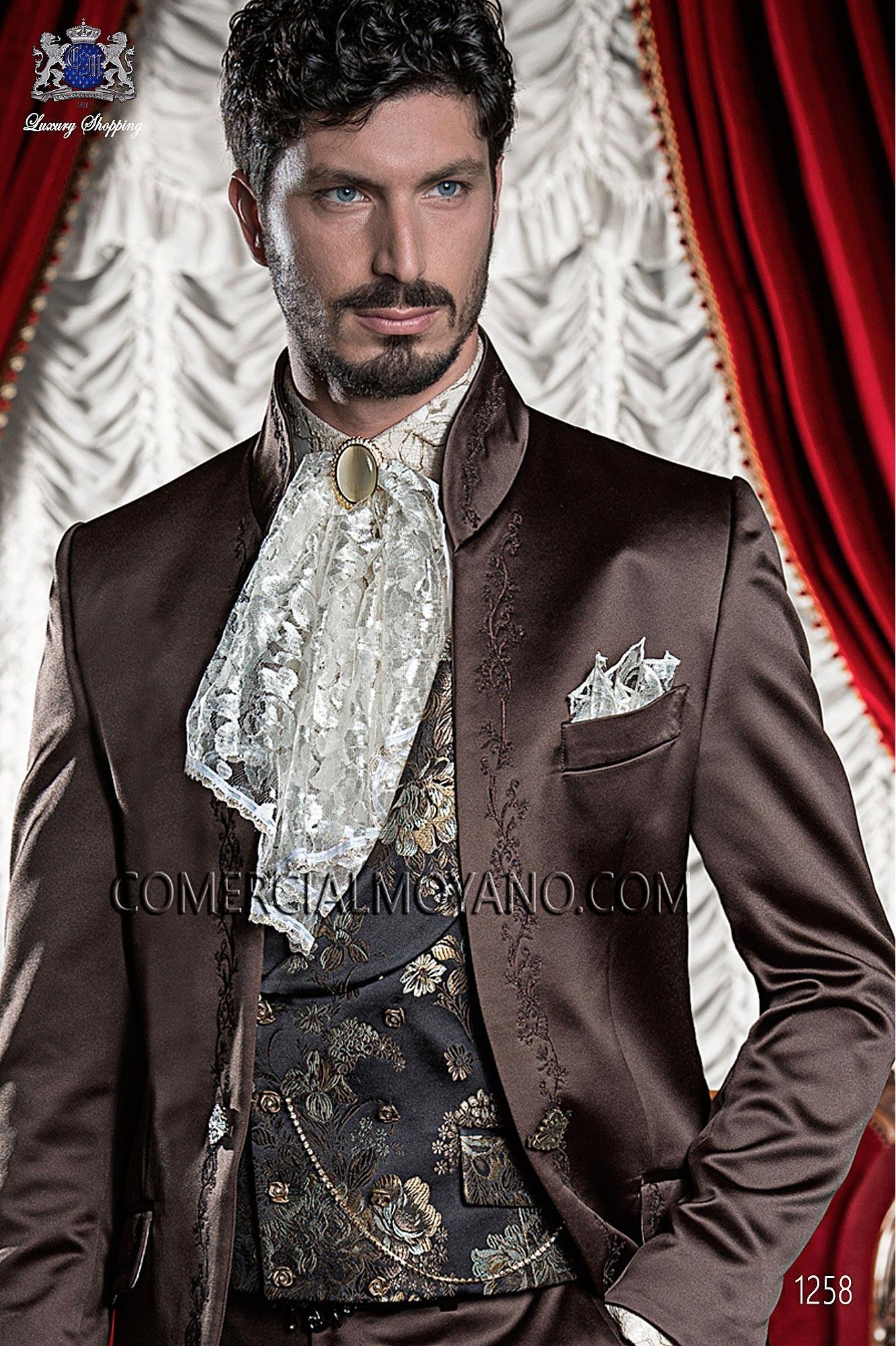 Traje barroco de novio marrón modelo: 1258 Ottavio Nuccio Gala colección Barroco