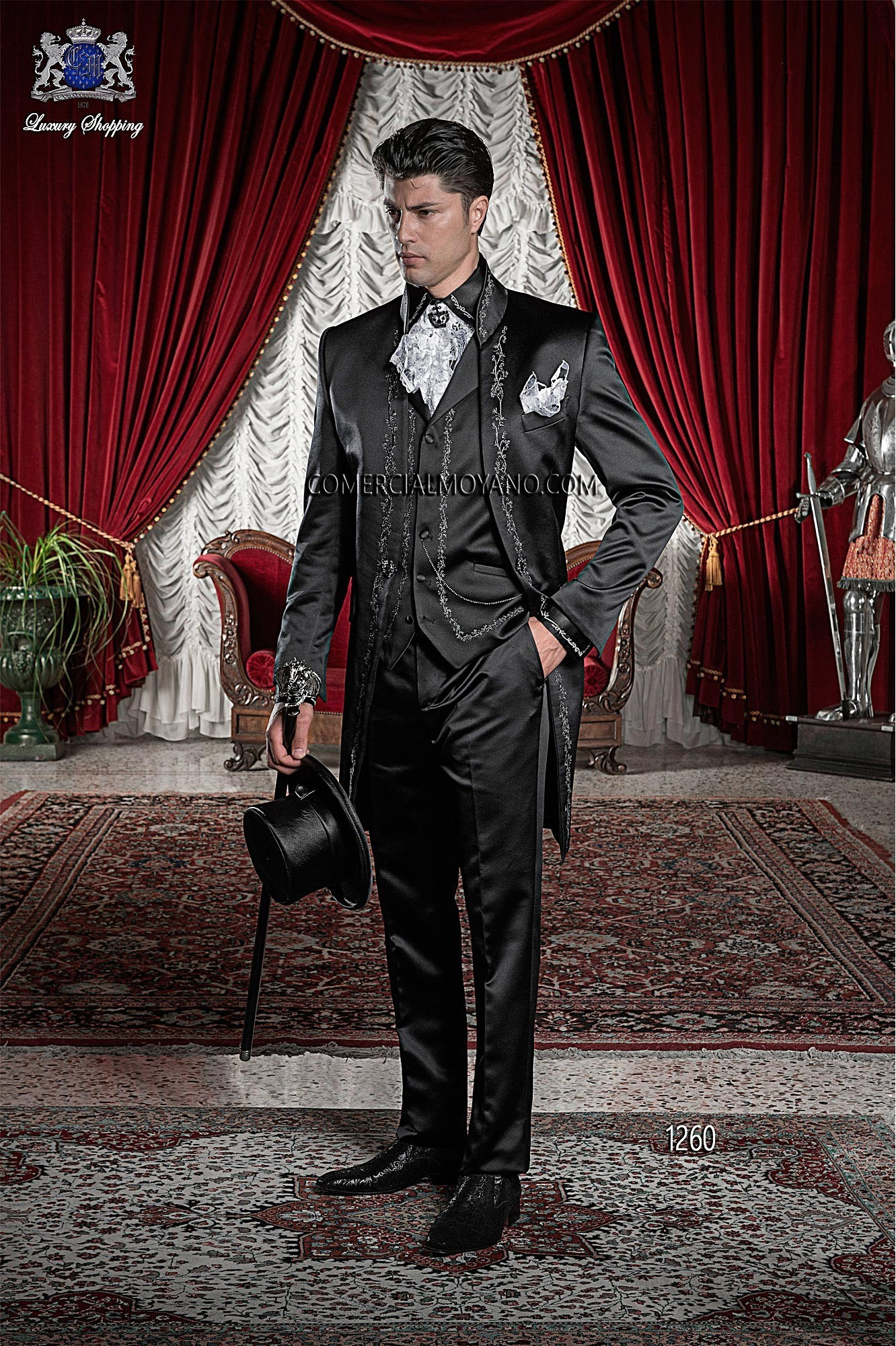 Traje de novio barroco negro modelo: 1260 Ottavio Nuccio Gala colección Barroco