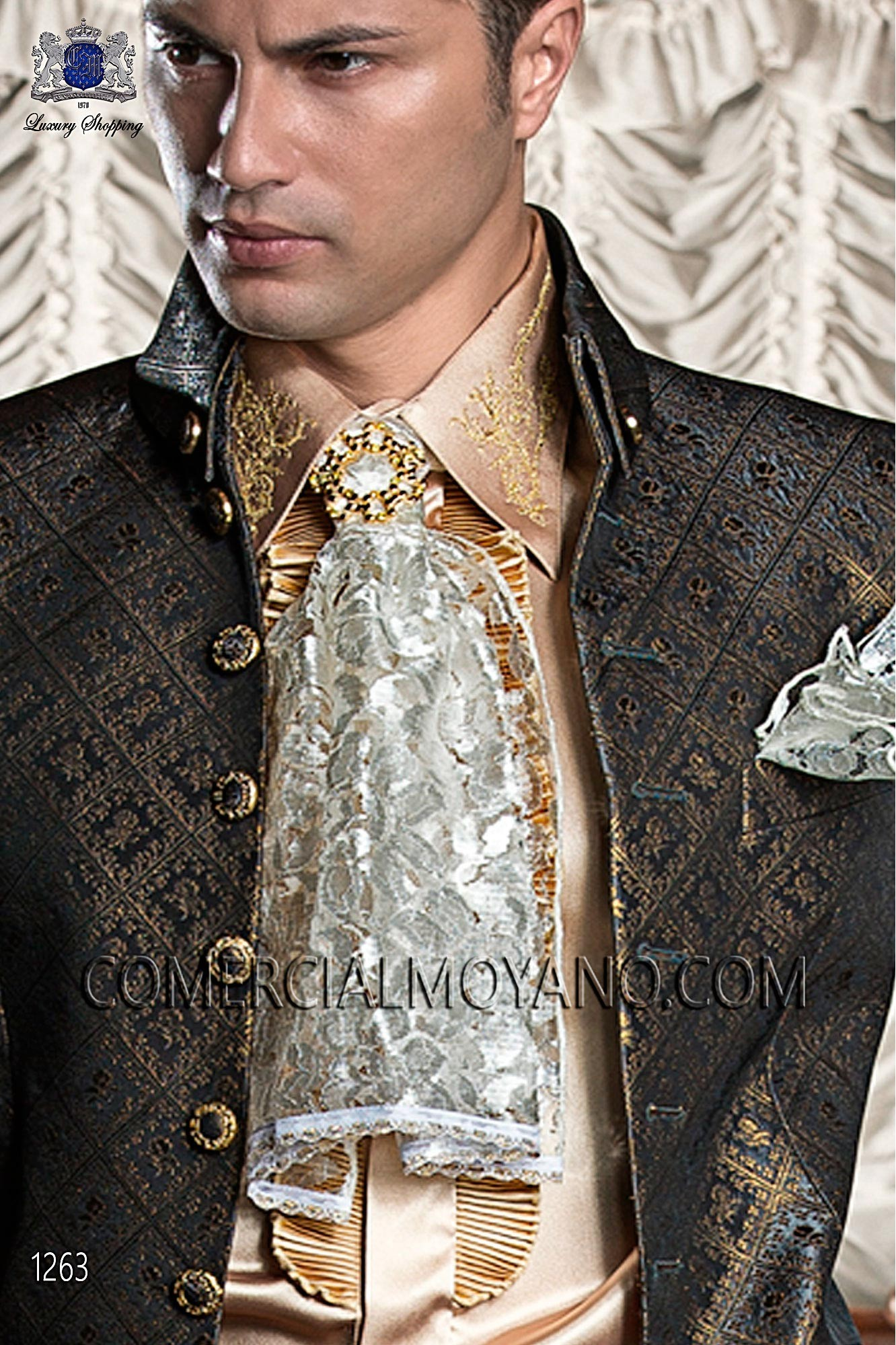 Baroque black/gold men wedding suit, model: 1263 Ottavio Nuccio ...