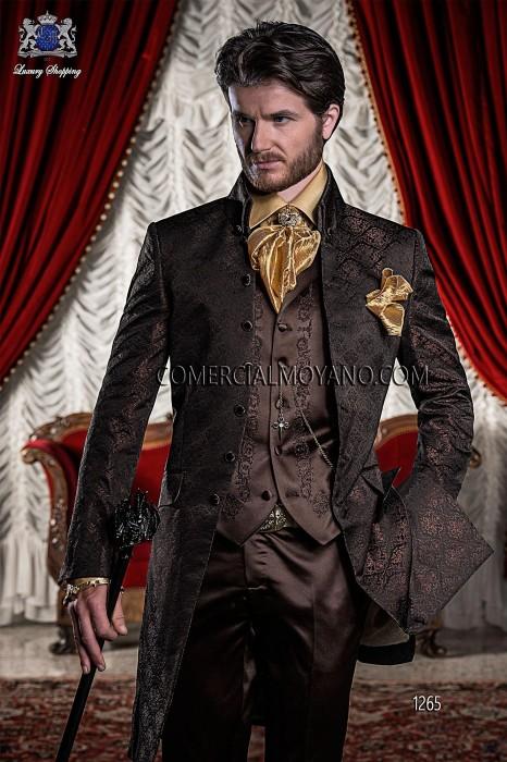 Baroque Italian black/copper wedding suit