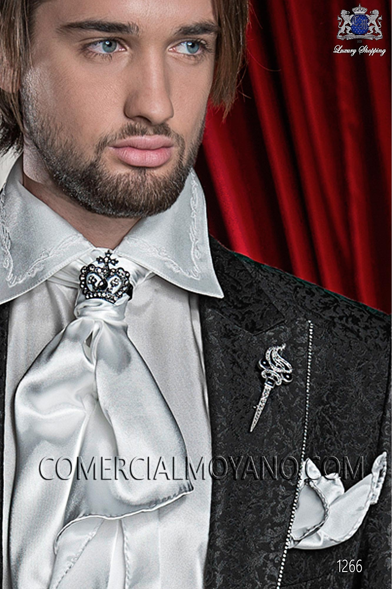 Traje barroco de novio negro modelo: 1266 Ottavio Nuccio Gala colección 2017 Barroco