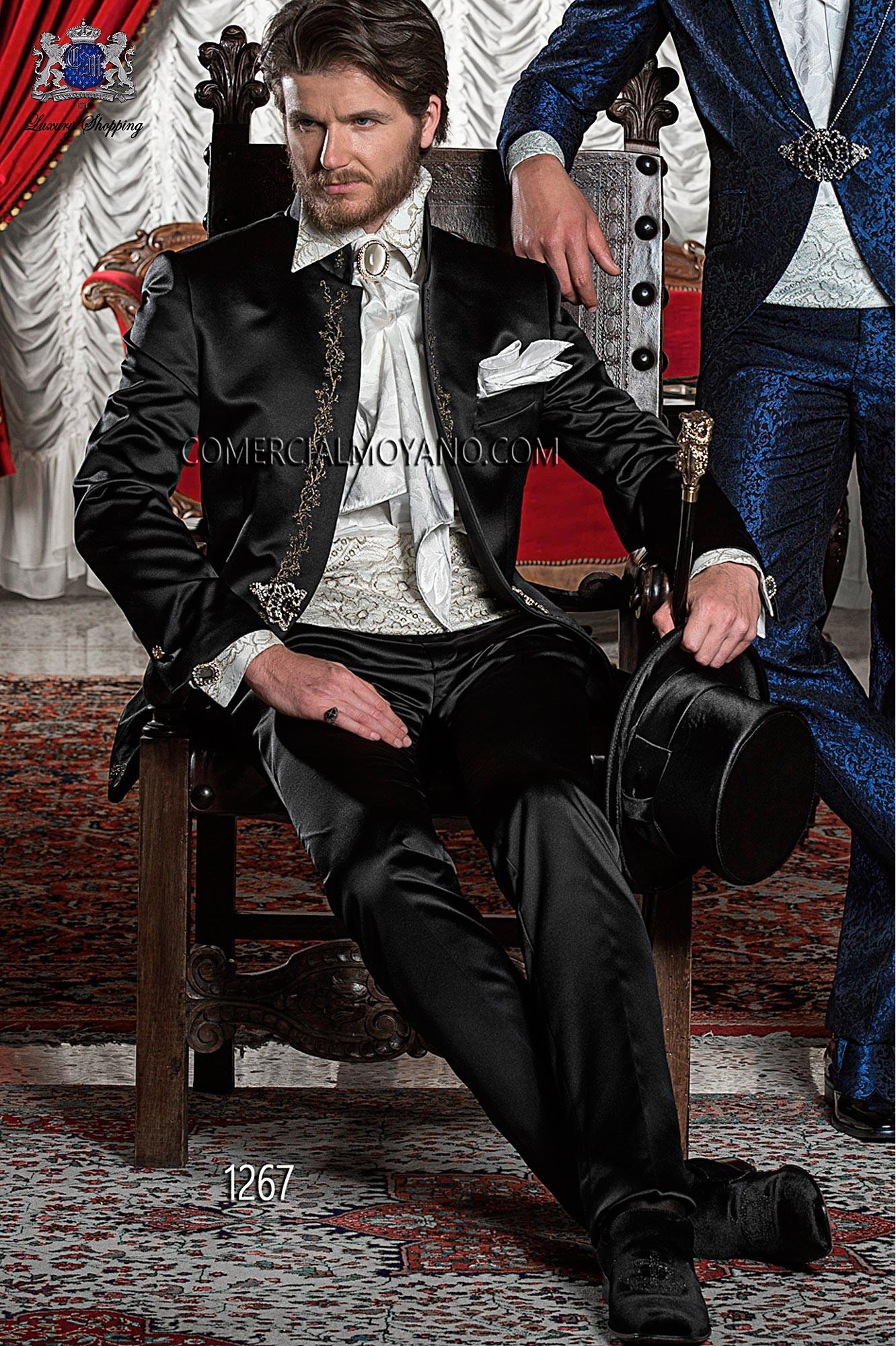 Traje de novio barroco negro modelo: 1267 Ottavio Nuccio Gala colección 2017 Barroco