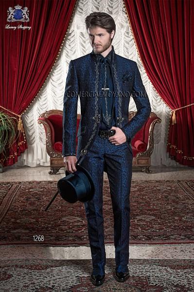 Traje de novio barroco azul modelo 1268 Ottavio Nuccio Gala colección Barroco