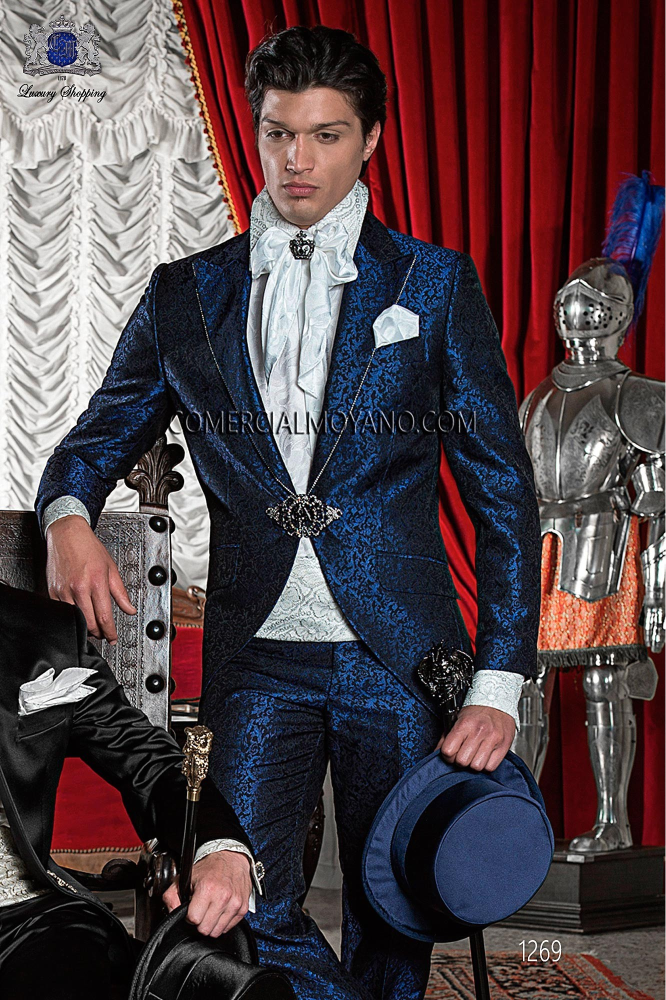Traje de novio barroco azul modelo: 1269 Ottavio Nuccio Gala colección 2017 Barroco