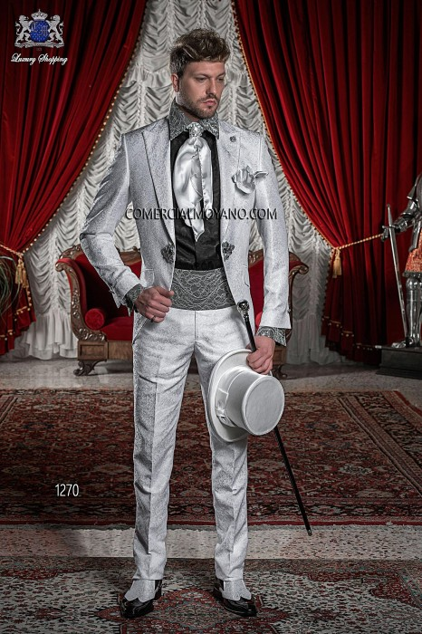 Italian pearl gray wedding suit