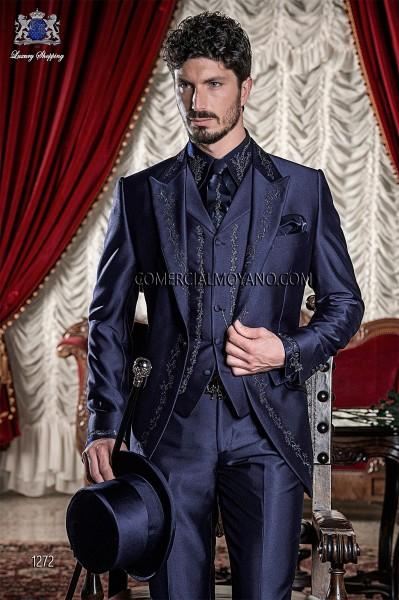 Traje de novio barroco azul modelo 1272 Ottavio Nuccio Gala colección Barroco