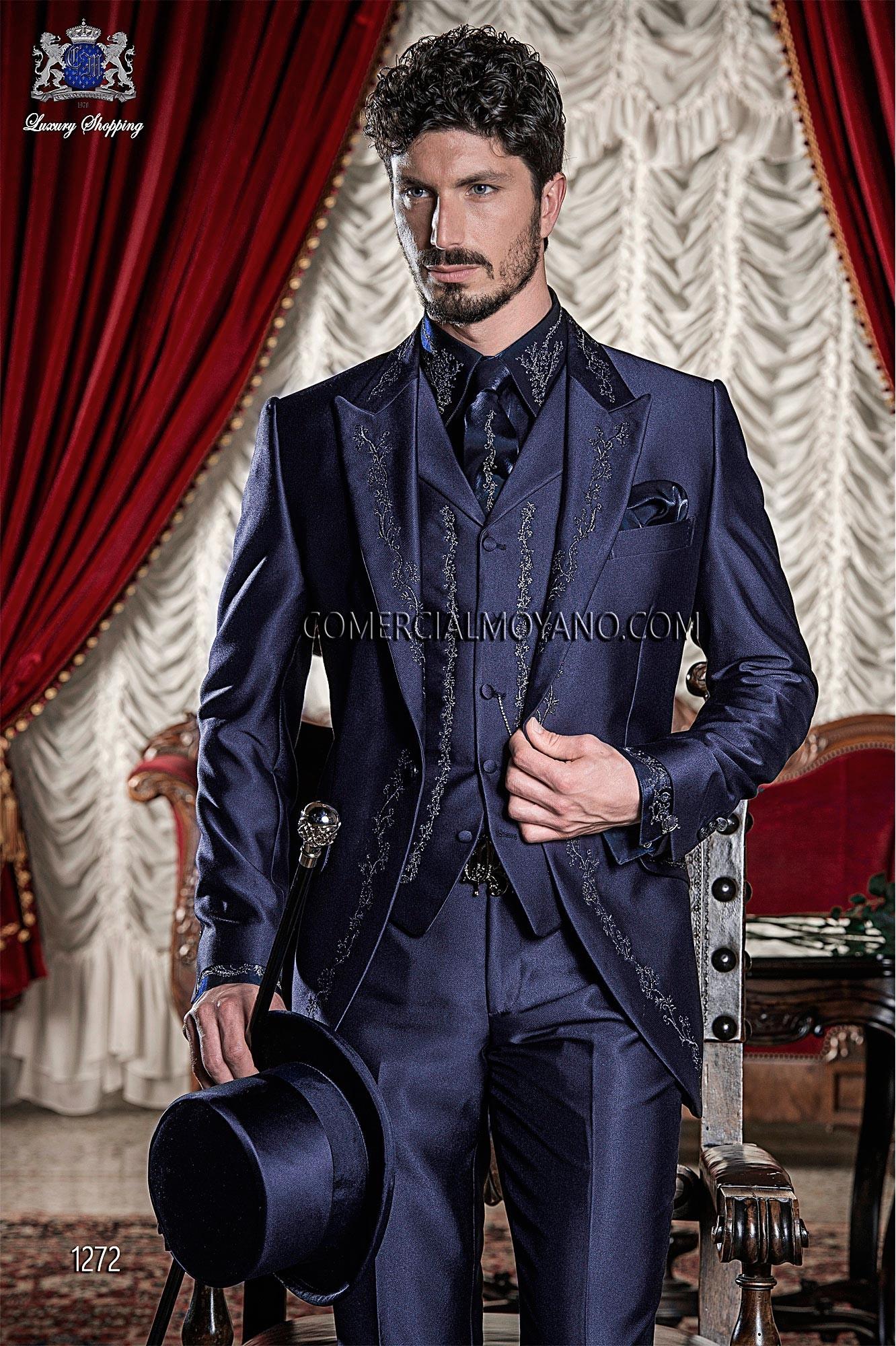 Traje de novio barroco azul modelo: 1272 Ottavio Nuccio Gala colección Barroco