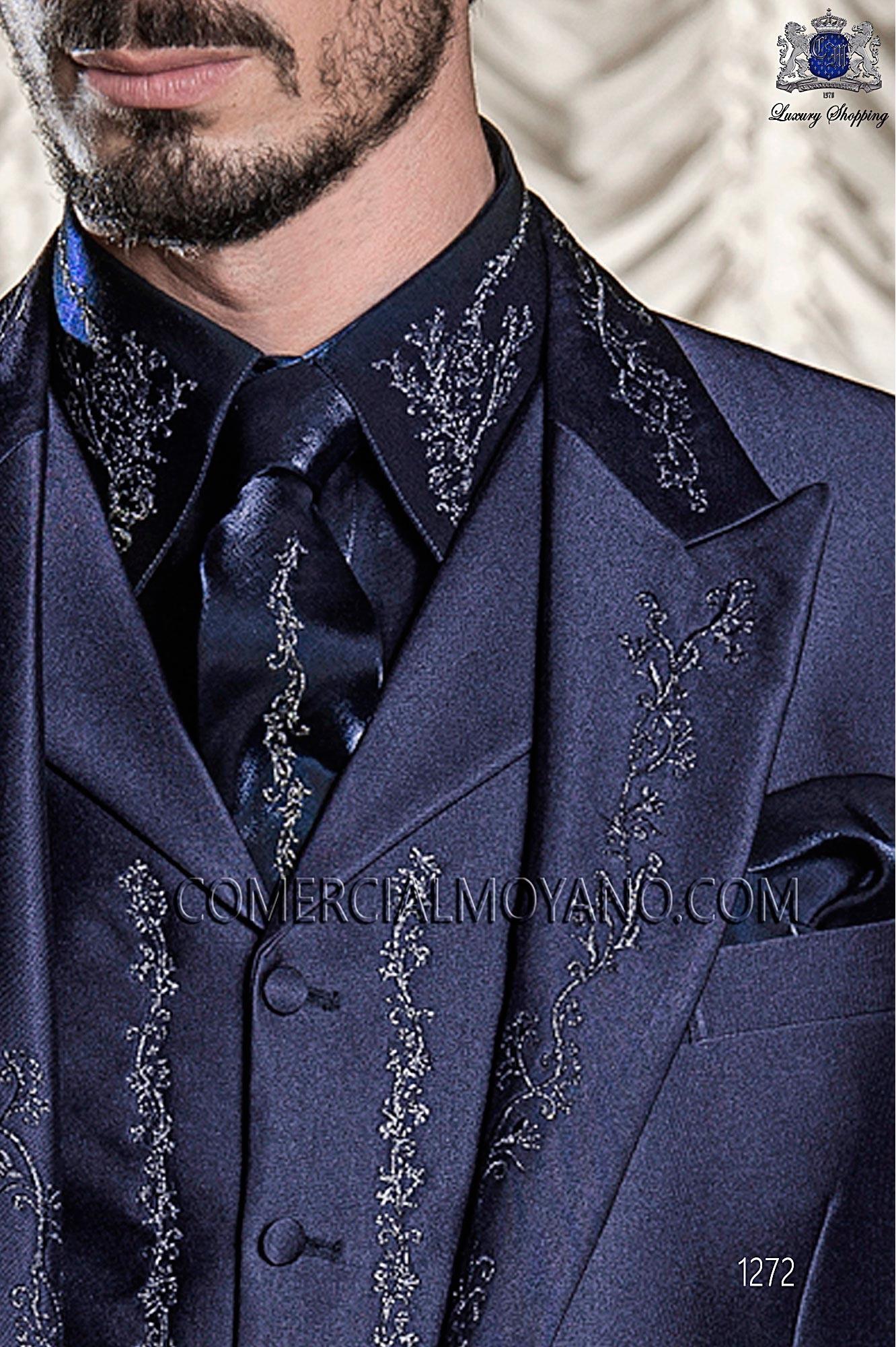 Traje barroco de novio azul modelo: 1272 Ottavio Nuccio Gala colección Barroco