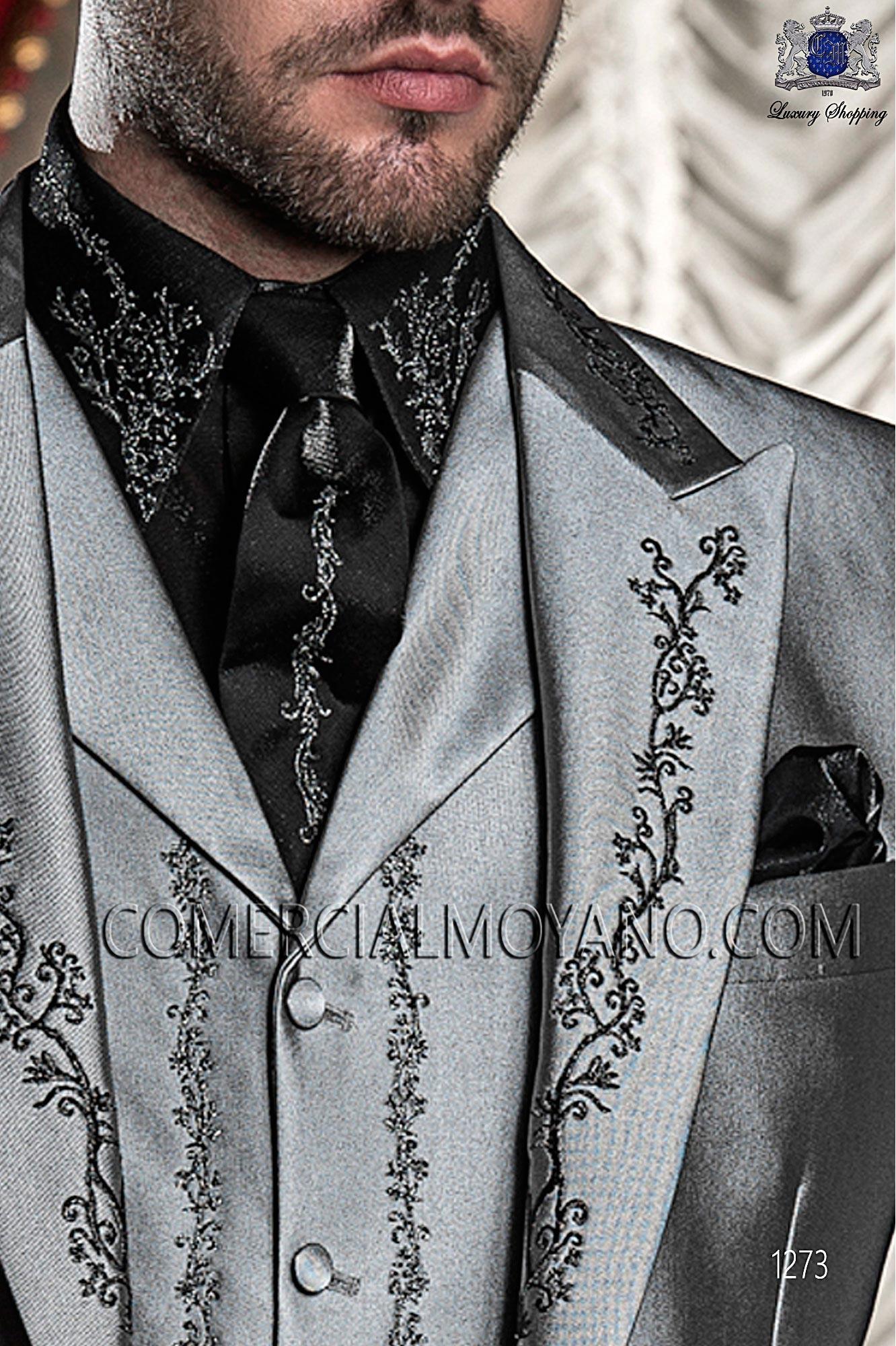Traje barroco de novio gris perla modelo: 1273 Ottavio Nuccio Gala colección Barroco