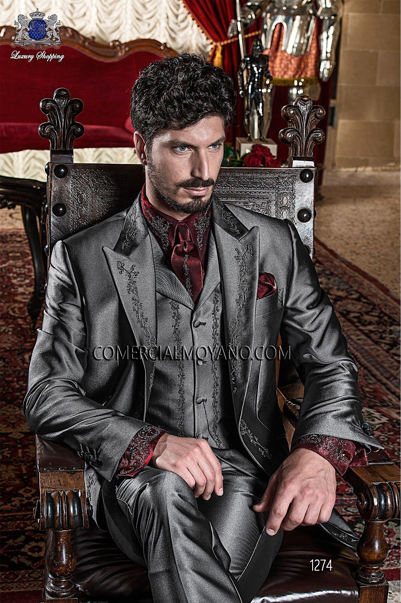 Traje de novio barroco gris modelo: 1274 Ottavio Nuccio Gala colección 2017 Barroco