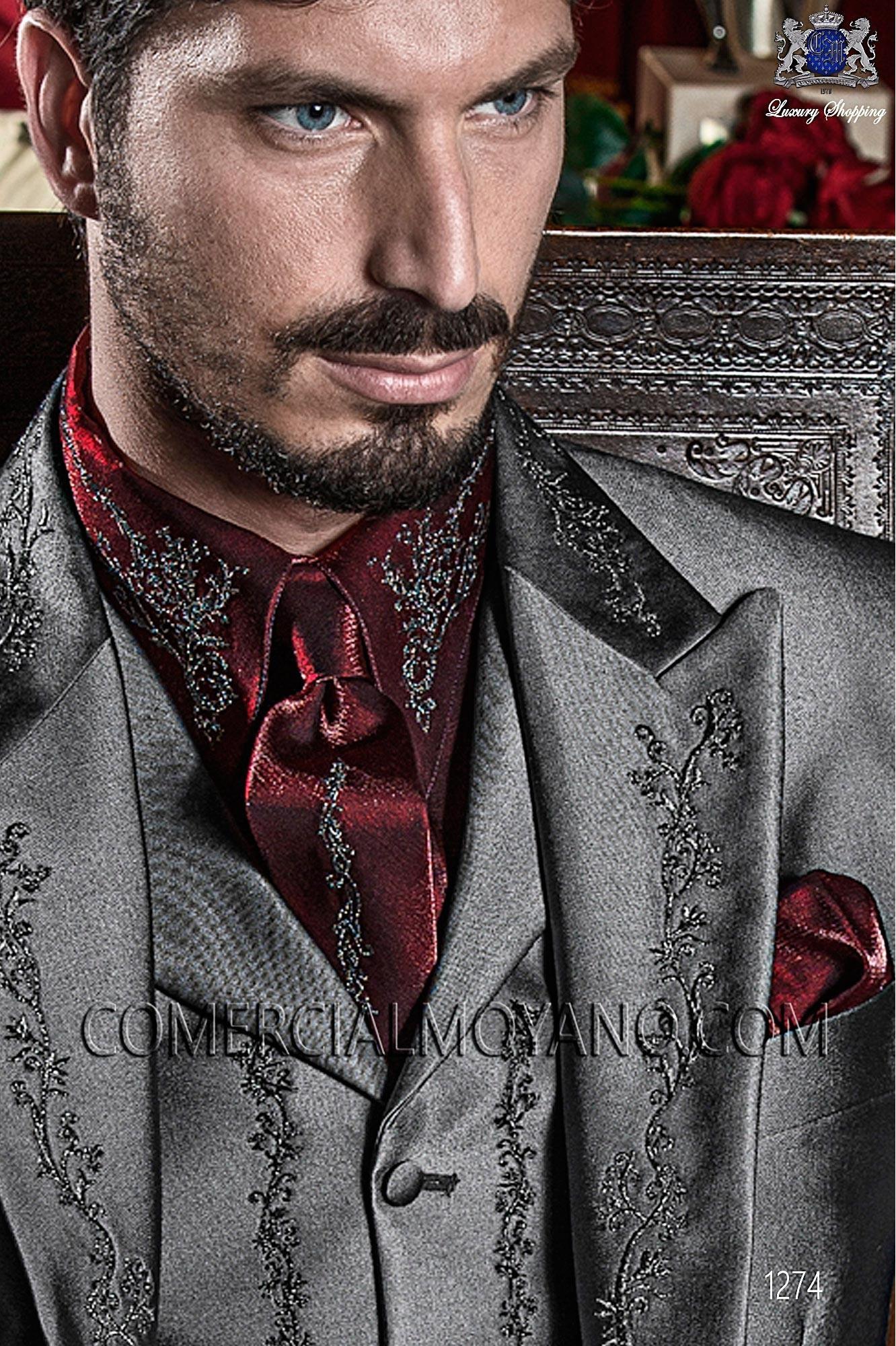 Traje barroco de novio gris modelo: 1274 Ottavio Nuccio Gala colección Barroco