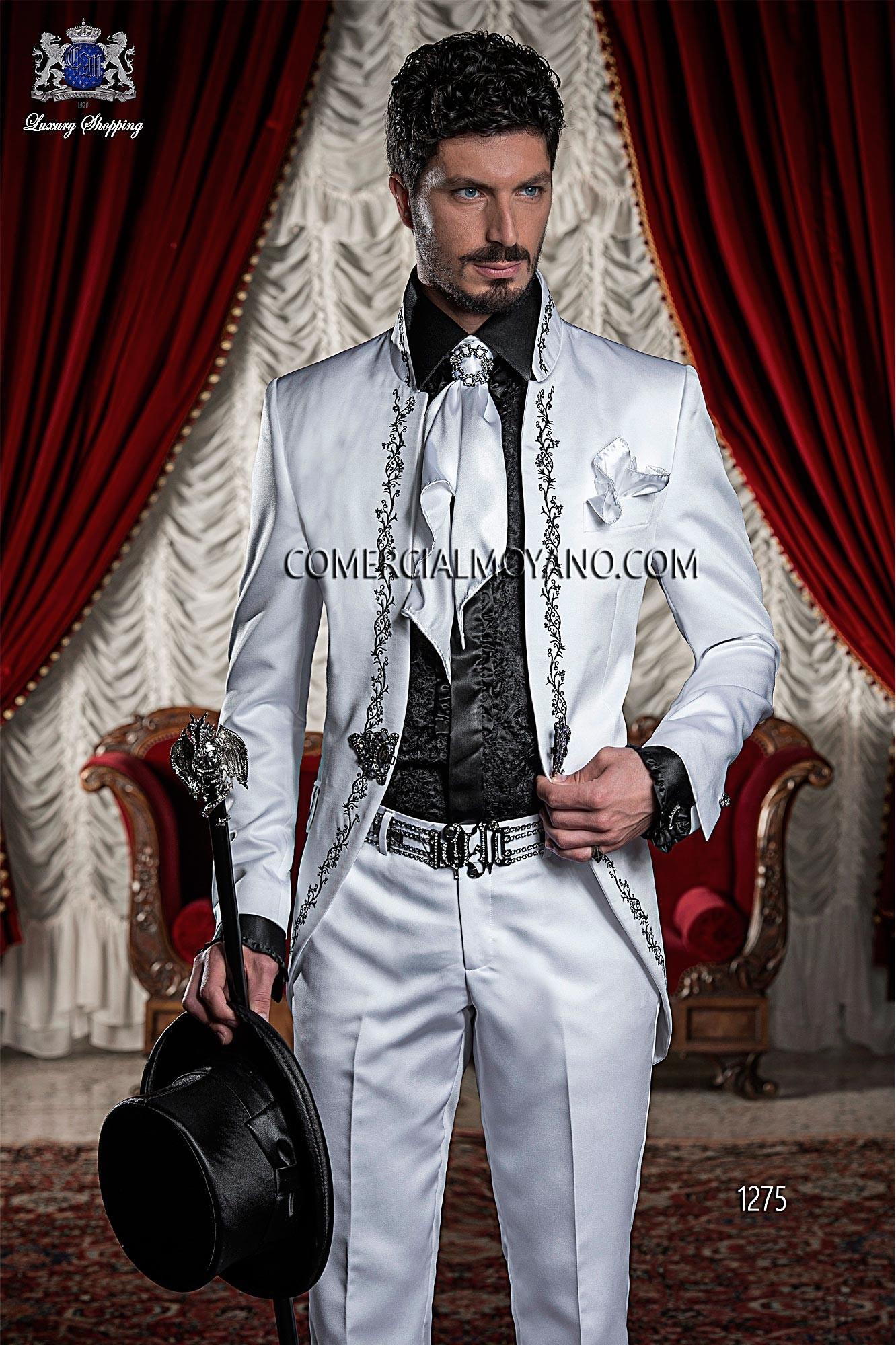 Italian bespoke white wedding suit style 1275 Ottavio Nuccio Gala.