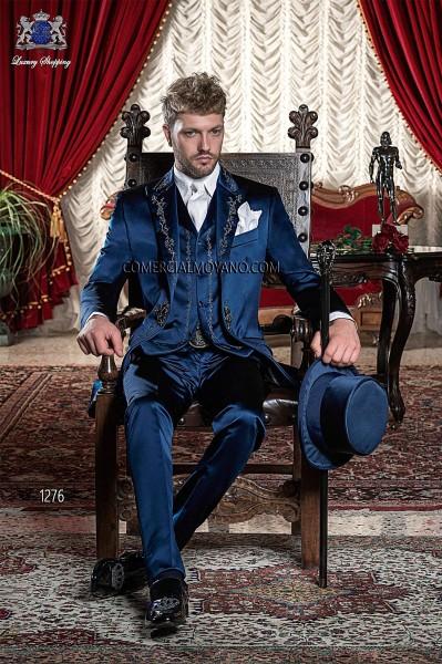 Traje de novio barroco azul modelo 1276 Ottavio Nuccio Gala colección Barroco