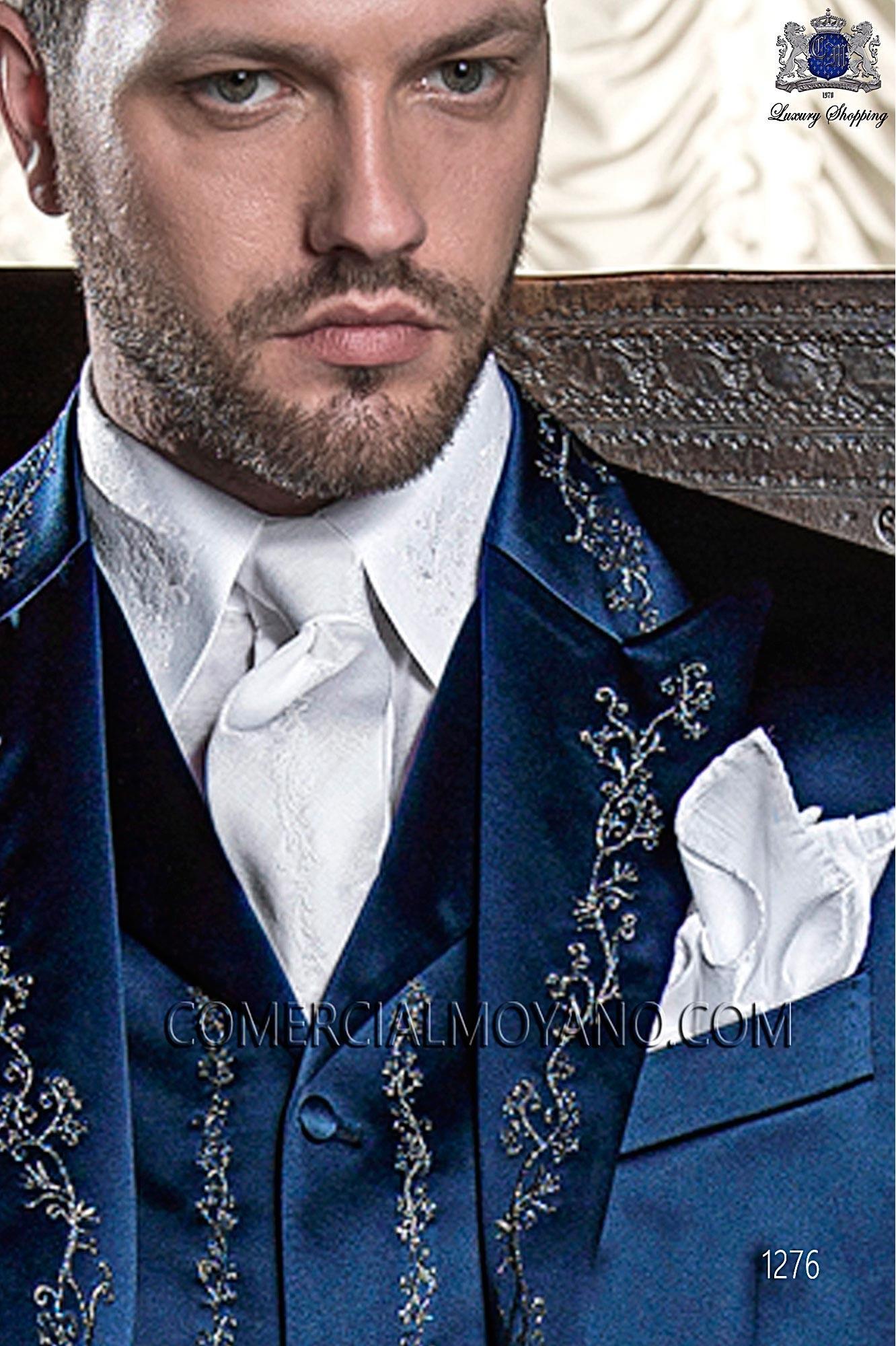 Traje barroco de novio azul modelo: 1276 Ottavio Nuccio Gala colección 2017 Barroco