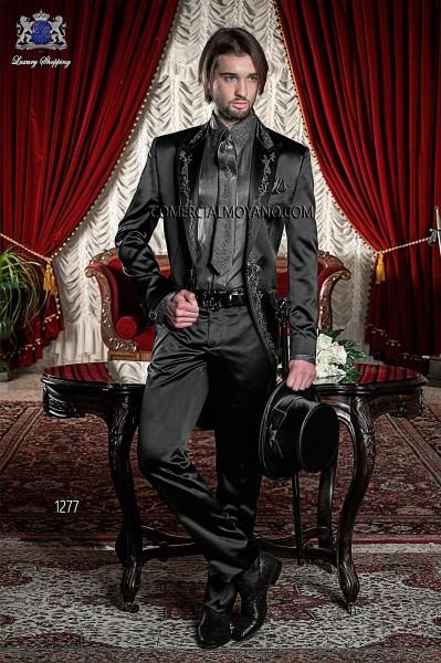 Traje de novio barroco negro modelo 1277 Ottavio Nuccio Gala colección Barroco