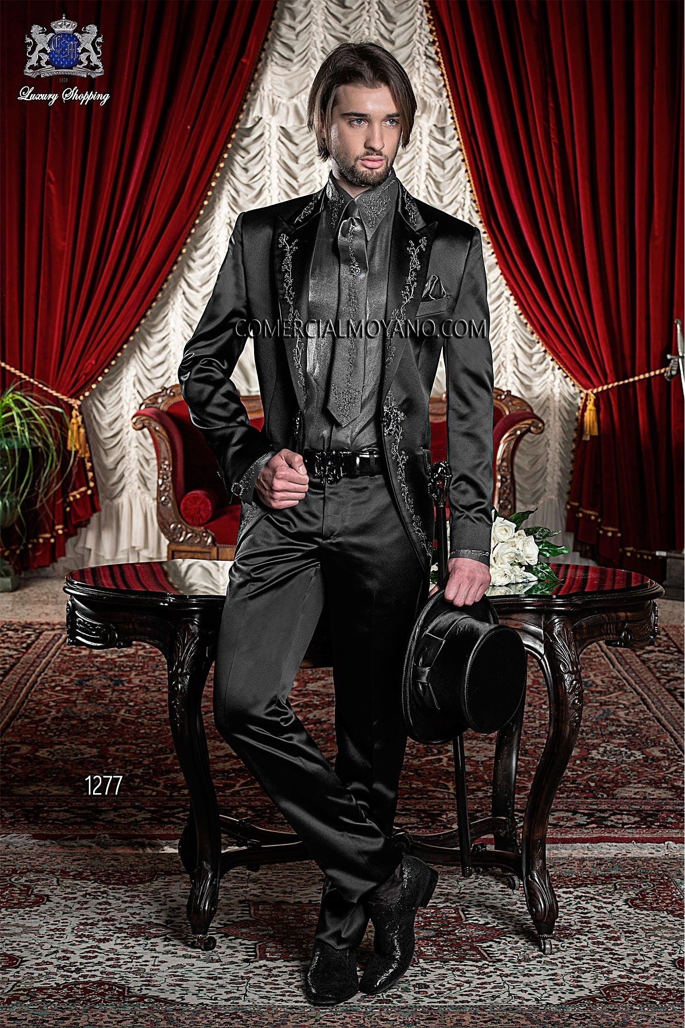 Traje de novio barroco negro modelo: 1277 Ottavio Nuccio Gala colección Barroco
