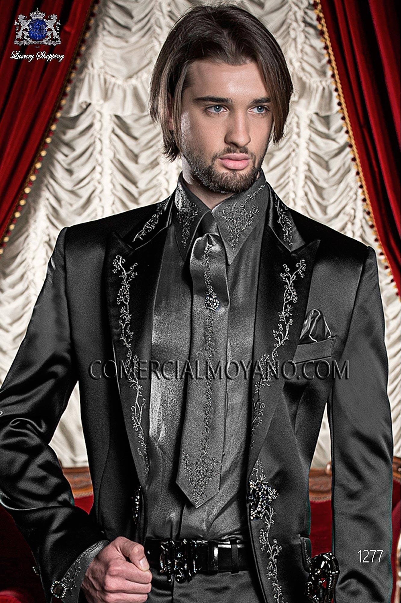 Traje barroco de novio negro modelo: 1277 Ottavio Nuccio Gala colección Barroco