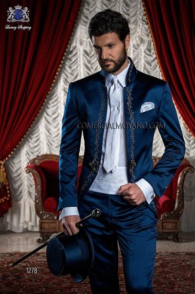 Traje de novio barroco azul modelo 1278 Ottavio Nuccio Gala colección Barroco