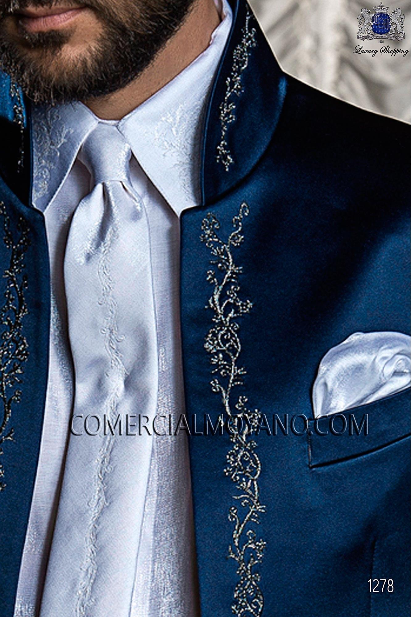 Traje barroco de novio azul modelo: 1278 Ottavio Nuccio Gala colección Barroco