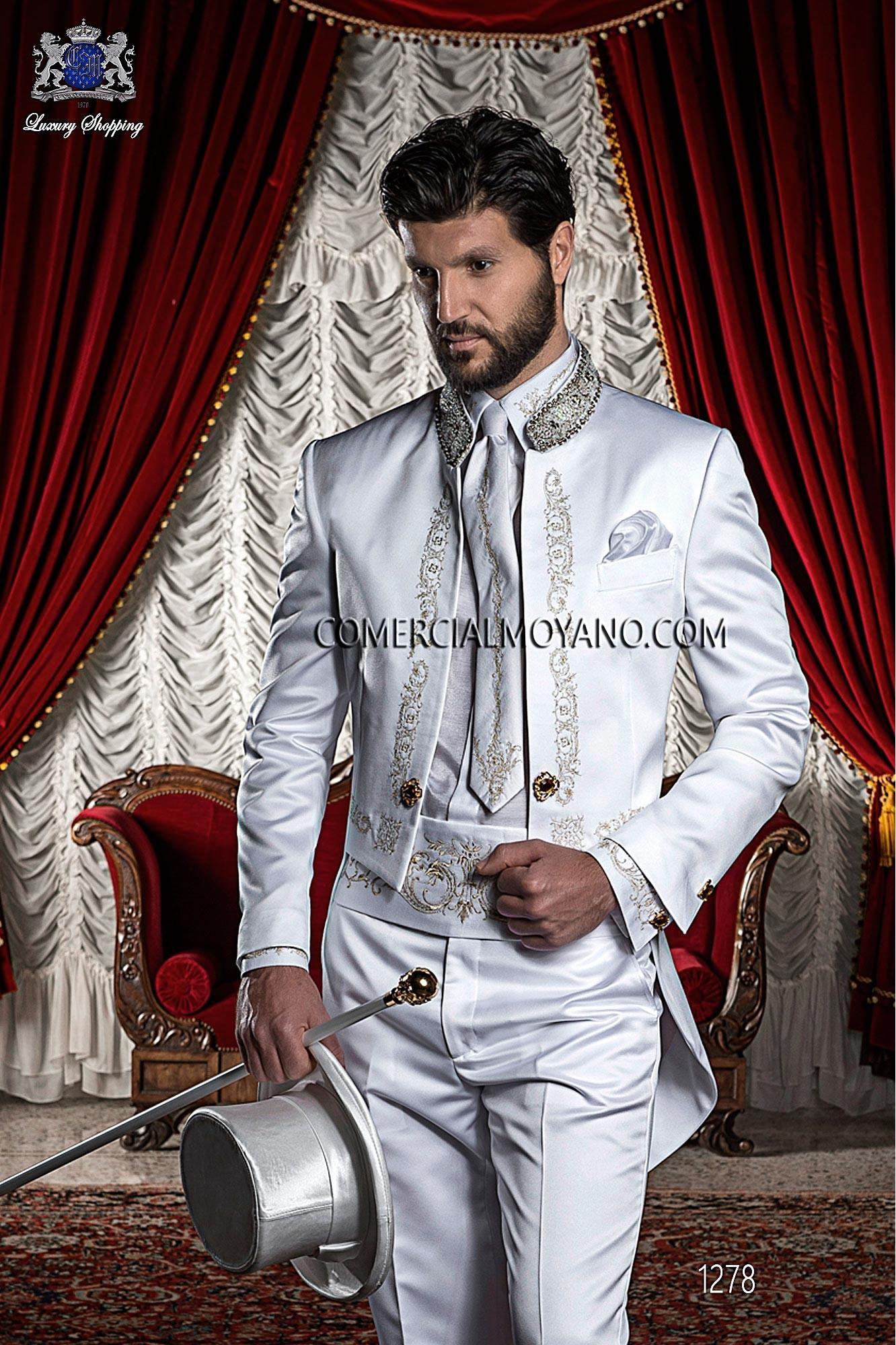Traje barroco de novio blanco modelo: 1279 Ottavio Nuccio Gala colección Barroco