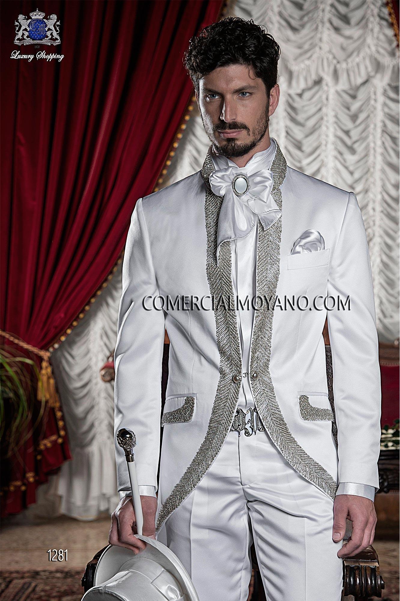 Traje de novio barroco blanco modelo: 1281 Ottavio Nuccio Gala colección Barroco
