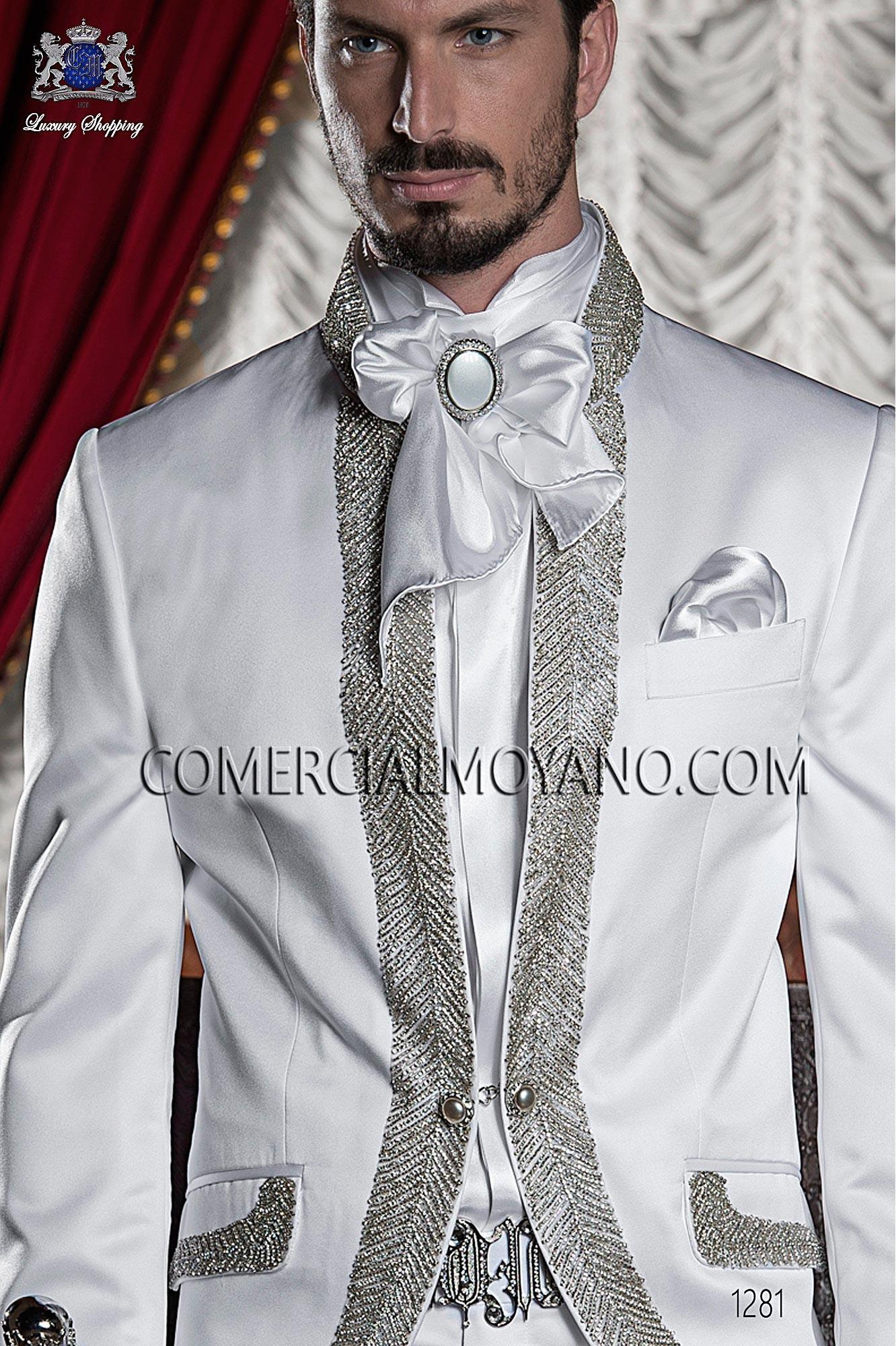 Traje barroco de novio blanco modelo: 1281 Ottavio Nuccio Gala colección Barroco