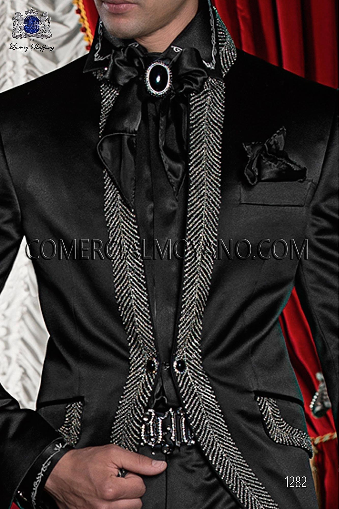 Traje barroco de novio negro modelo: 1282 Ottavio Nuccio Gala colección Barroco