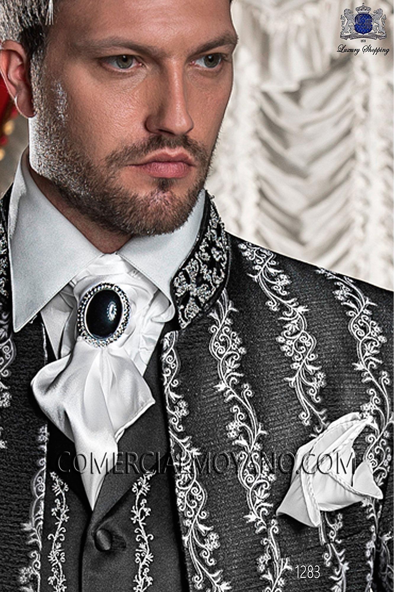Traje barroco de novio negro-plata modelo: 1283 Ottavio Nuccio Gala colección Barroco