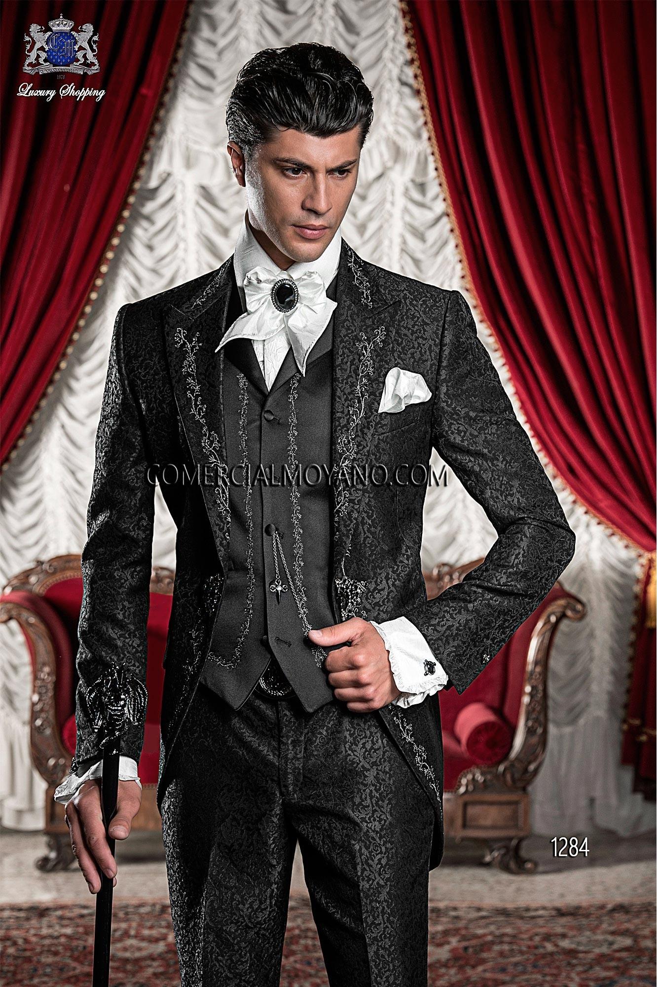 Traje de novio barroco negro modelo: 1284 Ottavio Nuccio Gala colección Barroco