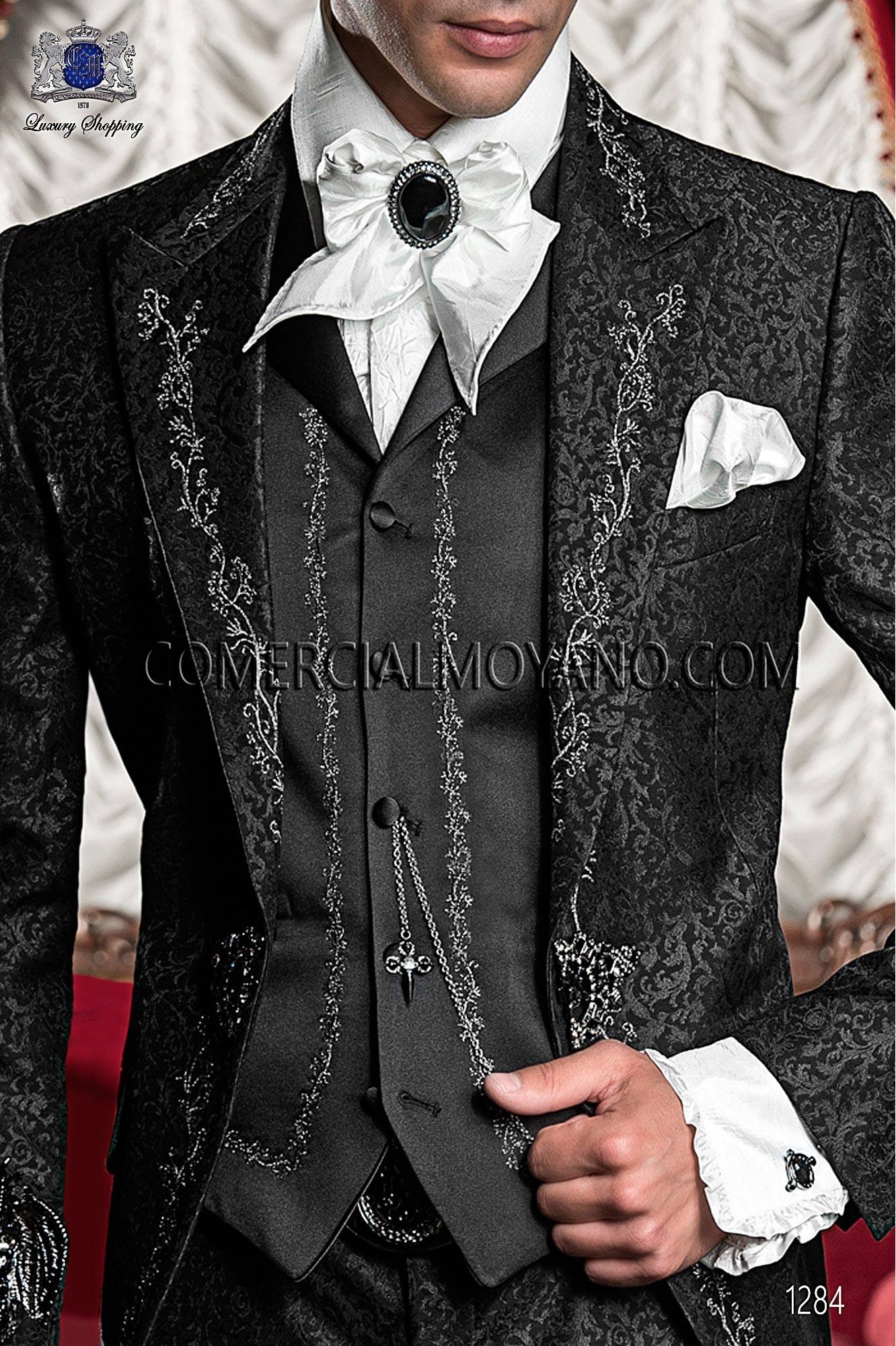 Traje barroco de novio negro modelo: 1284 Ottavio Nuccio Gala colección Barroco