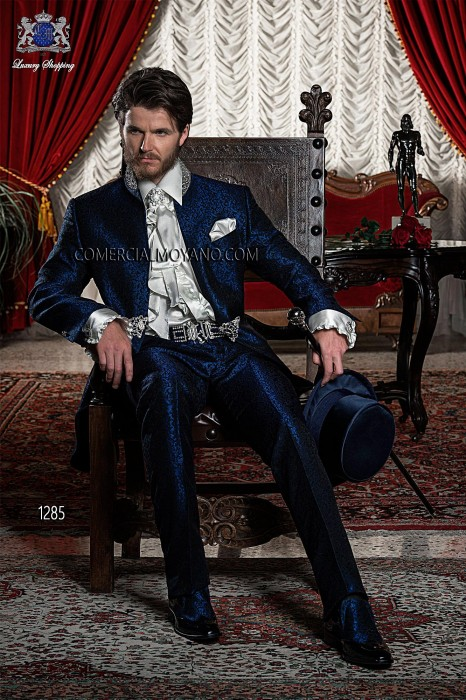 Italian blue wedding suit