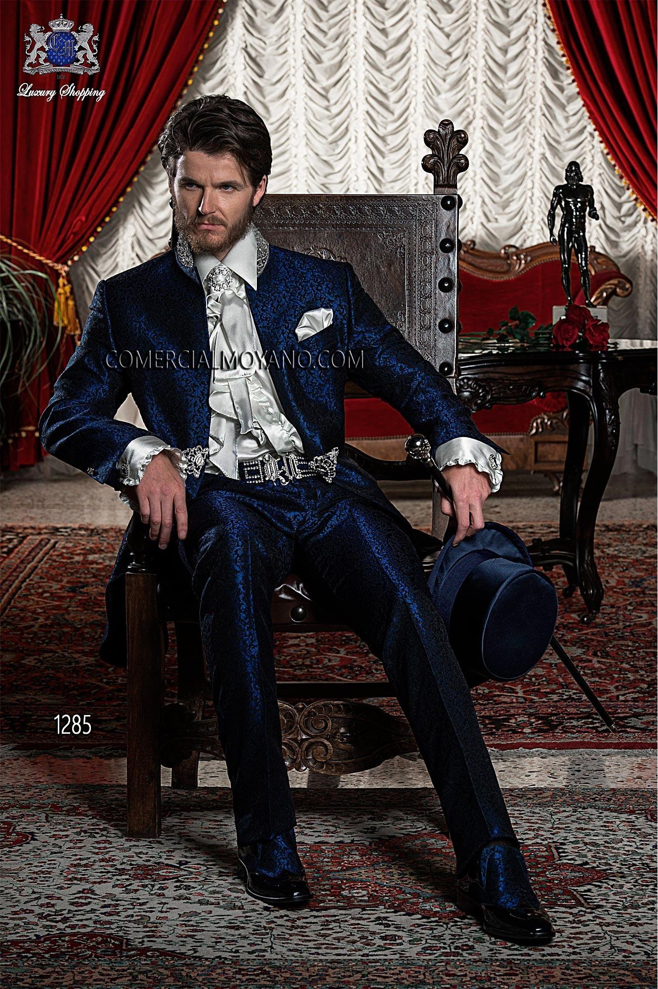 Traje de novio barroco azul modelo: 1285 Ottavio Nuccio Gala colección Barroco