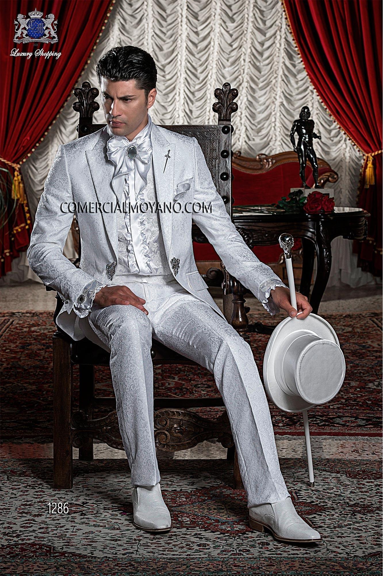 Traje de novio barroco blanco modelo: 1286 Ottavio Nuccio Gala colección Barroco