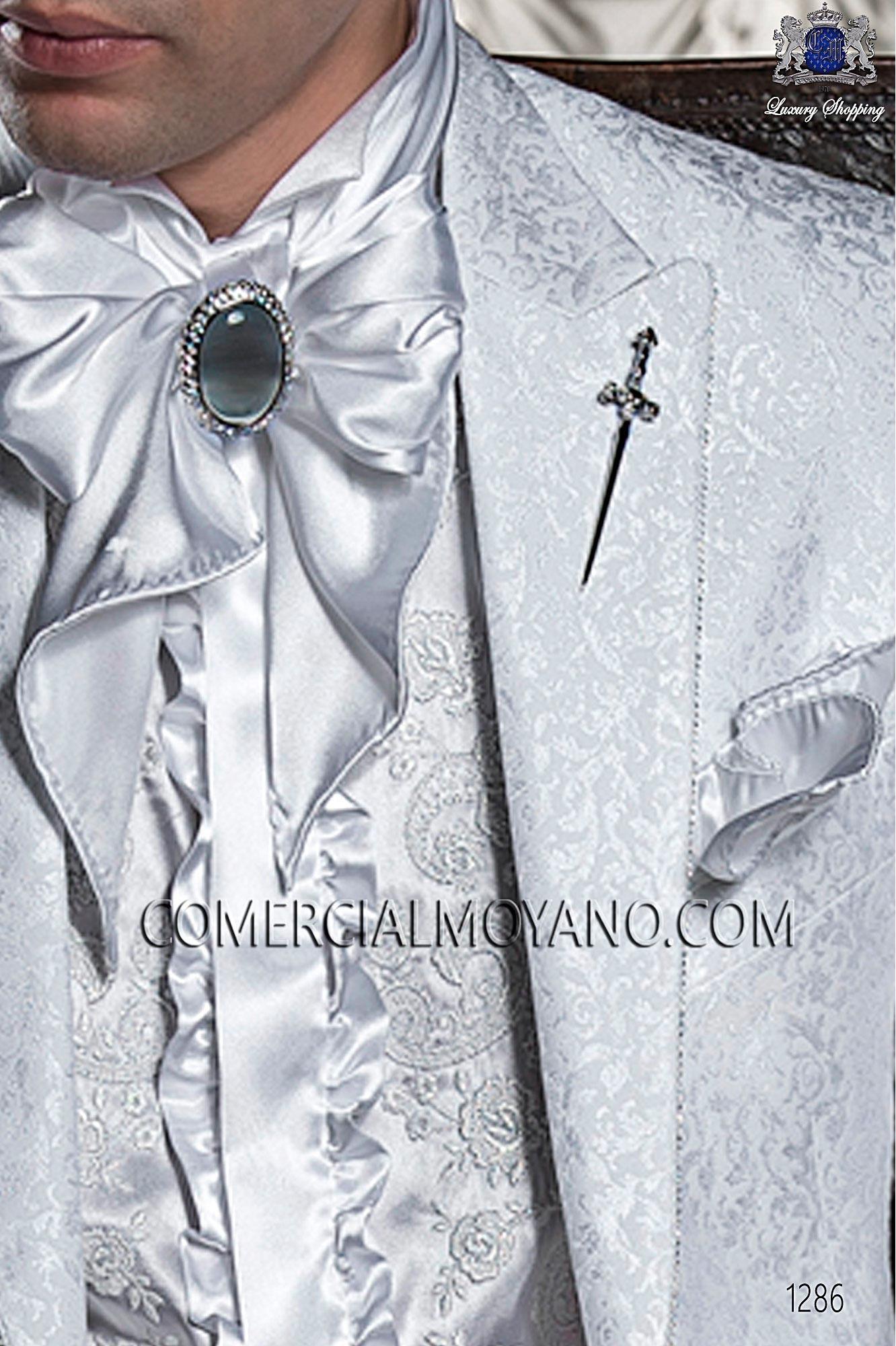 Traje barroco de novio blanco modelo: 1286 Ottavio Nuccio Gala colección Barroco